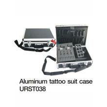 Barato y práctico caso de aluminio del kit del tatuaje para la máquina del tatuaje