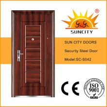 Экономический дизайн одной внешней безопасности стальные двери (СК-S042)