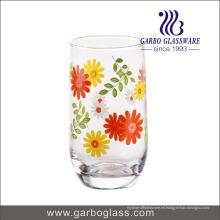10.5oz Nuevo vaso de vidrio soplado impreso