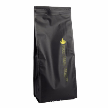 Custom Reusable Quad Seal Coffee Packaging Bags Bean