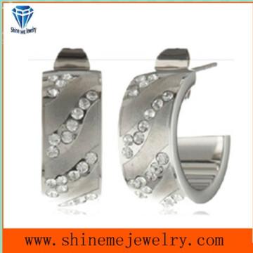 Mini CZ Setting Stone CNC Earrings Studs Jewelry