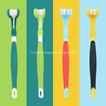 Pet three-head toothbrush oral care products