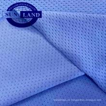 La trama del estiramiento de la fábrica de China hizo punto la tela de malla del solo poliéster 6 Spandex 94 para la ropa de deportes