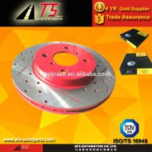 Sistema de peças de freio do rotor de freio de disco ranhurado perfurado, fábrica de peças de reposição automática