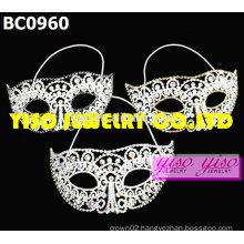 mask rhinestone pageant tiaras