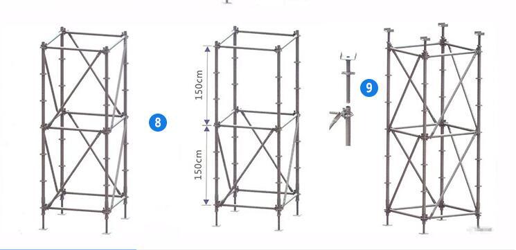 Ringlock scaffolding tube