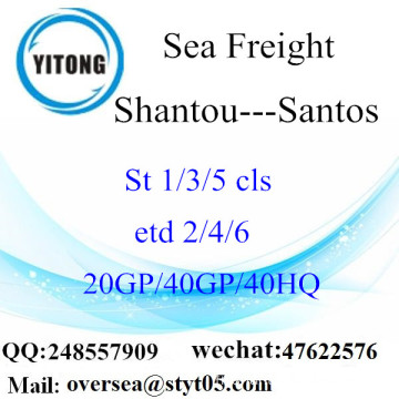 Shantou Port Sea Freight Shipping à Santos