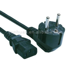 Supply cable Ac plug European style lead model VDE approval