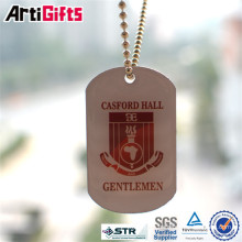 Wholesale cheap custom metal dog tags sublimation with ball chains