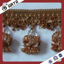 Pompom Curtain Trim Lace tassel fringe with beads,used for drapes,cushions,curtain and accessories,minnetonka curtains tassels