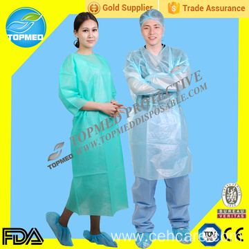 PP+PE Surgical Gown with knitted cuff