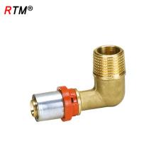 A 17 4 13 accesorios de tubería de codo de bronce tubo de múltiples capas a presión