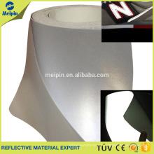 Cuero reflexivo de plata de la PU de 0.8mm para los zapatos de los deportes, zapatos corrientes