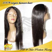 Hot selling full lace wigs 100% virgin human hair silk top wigs