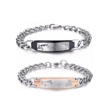 Un ensemble de bracelet de poignet d'ornement de dame de crochet pour des couples