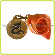 3D Zinc Die Cast Gold Plating Dragon Medal