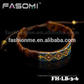 Latest design brown leather knotted cord bracelet jewelry for men