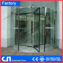 Laminated Glass Hand Open Manual Rotating Door