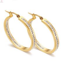 Vente en gros des prix de boucle d'oreille de cristal d'or de la Corée au Pakistan