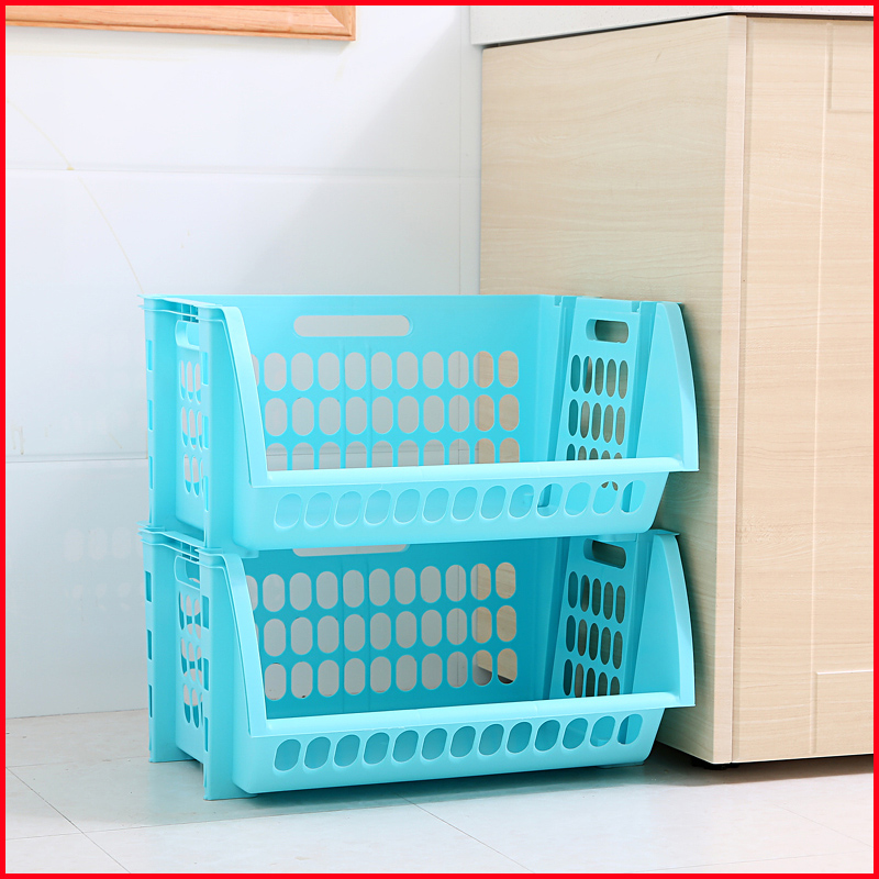 japanese plastic kitchen storage basket rack