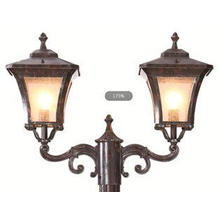 Brown Aluminum Outdoor Pole Lamps Antique European Pillar L