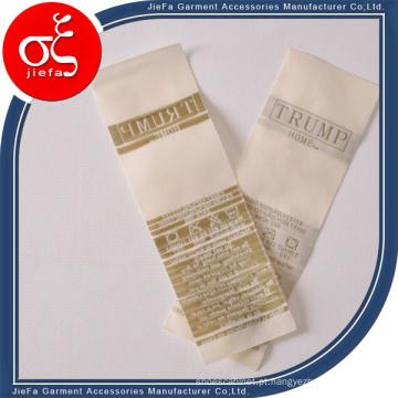 Logotipo personalizado 100% Polyster / Etiqueta de tecido de cetim / Etiqueta de lavagem para roupas