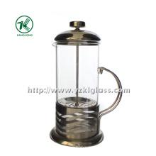 Glas Teekanne mit Edelstahl (11 * 14 * 25)