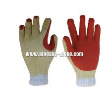 Gant de travail en latex à finition rugueuse doublée en polyester 13G-5201
