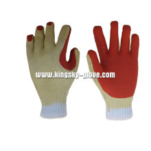 13G Polyester Liner Rough Finish Latex Work Glove-5201
