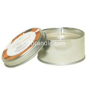 Yes handmade natural soy wax white candles in tin