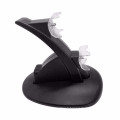 Black LED Light Quick Dual USB Charging Dock Stand Charger For PlayStation 3 For PS3 Controller Console