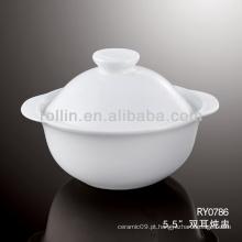 Boa qualidade tigela de porcelana branca chinesa de sopa
