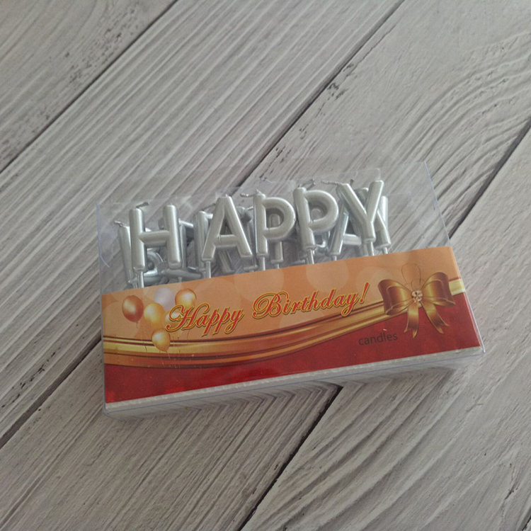 Silver Birthday Candles Letter
