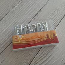 Letra de embalaje del PVC del oro Velas sin humo del cumpleaños