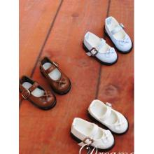 White/Blue/Brown Flat Shoes for YSD Ball-jointed Doll