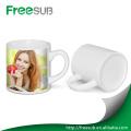 High quality Small 6 oz white blank ceramic coffee mug for sublimation