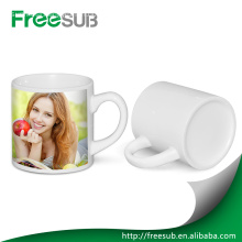 High quality Small 6 oz white blank ceramic coffee mug for sublimation