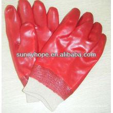 Knit pvc trempé gant pour l'industrie pétrolière