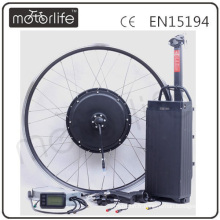 MOTORLIFE / OEM marque 2015 VENTE CHAUDE CE passer 48 v 1000 w vélo électrique kit avec batterie, kit de conversion vélo électrique