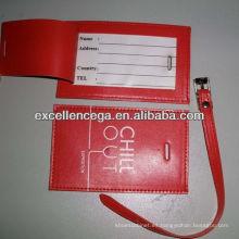 Etiqueta barata del equipaje del cuero del pvc