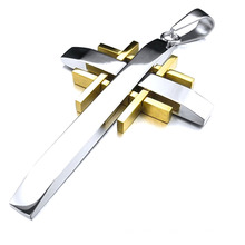 Hot Designs Stainless Steel Custom Cross Colgante Jewelry