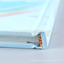 Buchdruck mit Hardcover und Laminierung