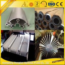 Perfil de alumínio do dissipador de calor do OEM para a termólise da máquina