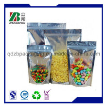 One-Side Clear Resealable Stand up Zipper Bag
