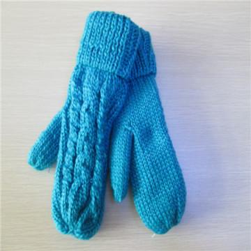 mão feminina malha luvas de inverno remix