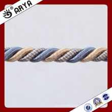 Decoração simples Corda decorativa para decoração de sofá ou acessório para decoração de casa, cordão decorativo, 6mm