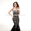 Best Selling Bilder der neuesten Kleider Designs schwarze Spitze 2017 Braut Hochzeitskleid