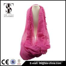 Bufanda rosada al por mayor del resorte de la muchacha de la bufanda del lazo del infinito