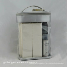 Custom Soft PVC Bag with Handle for Make up (cosmetic packaging)
