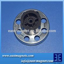Ferrite ímã pólos múltiplos para o resfriamento, ventilador do radiador / multi-pólo anel magnético fábrica